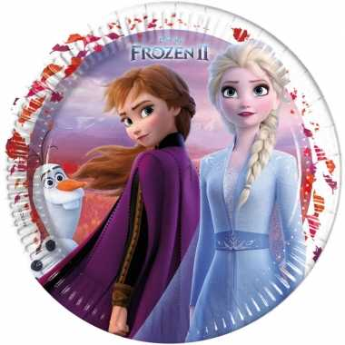 8x disney frozen 2 themafeest bordjes 23 cm