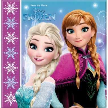 Disney 60x frozen themafeest servetten 33 x 33 cm papier
