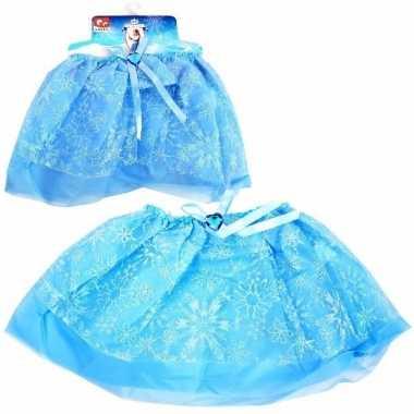 Disney blauwe tutu met glitter sneeuwvlokken frozen