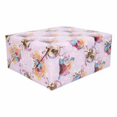 Disney cadeau inpakpapier paars frozen 1 rol