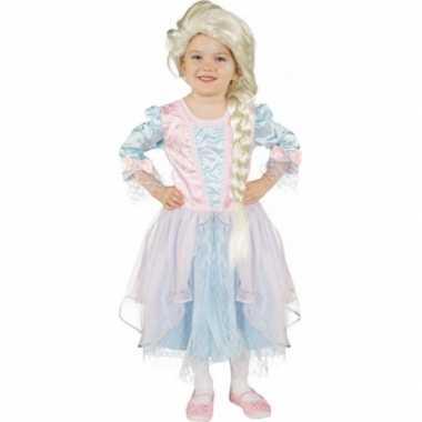 Disney  Carnaval outfit lichtblauw met roze prinses jurk frozen