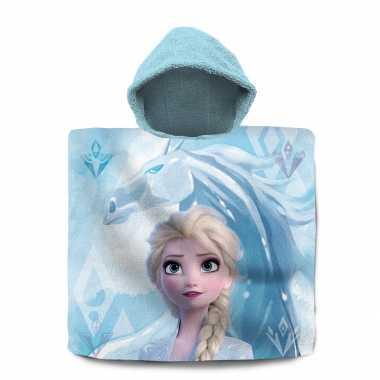 Disney frozen 2 badcape/poncho met lichtblauwe capuchon voor kinderen