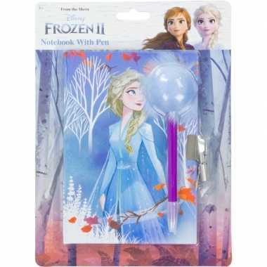 Disney frozen dagboek met slot en pluizige pen