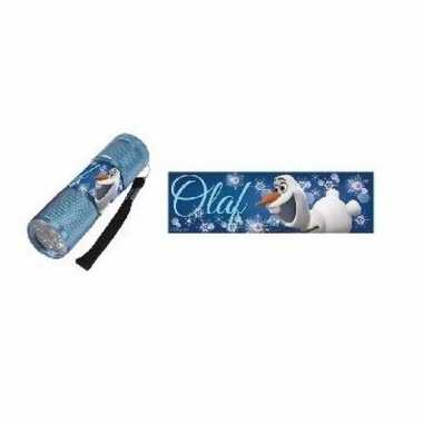 Disney frozen led zaklamp olaf blauw