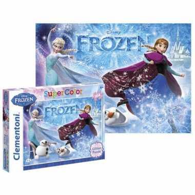 Disney  Frozen puzzel Glitter 104 stukjes