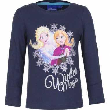 Disney frozen shirt blauw voor meisjes