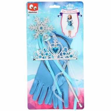 Disney frozen verkleed accessoires blauw