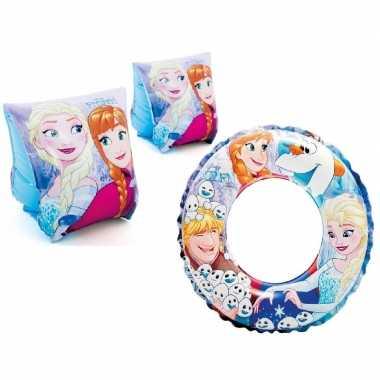 Disney frozen zwembad set zwemvleugels 3-6 jaar en zwemband