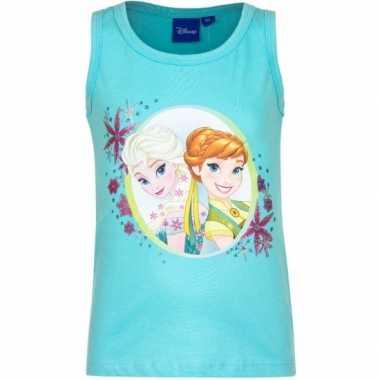 Disney  Mouwloos Frozen t-shirt blauw