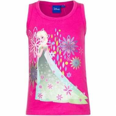 Disney  Mouwloos Frozen t-shirt roze