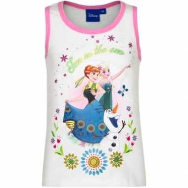 Disney mouwloos frozen t-shirt wit
