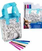 Disney frozen anna en elsa inkleurbare tas
