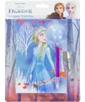 Disney frozen dagboek met slot en pluizige pen
