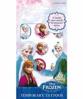 Disney frozen plak tattoeages 12 stuks